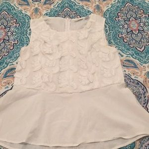 Peplum, white blouse!